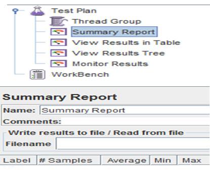 JMeter Test Plan UI