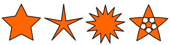 Orange colored star shaped objects