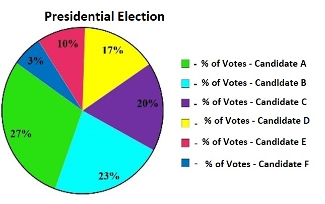 Pie Chart with Percentage Votes